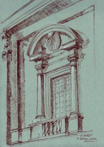 Study of window at the Campidoglio