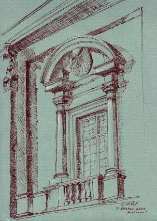 Study of window at the Campidoglio