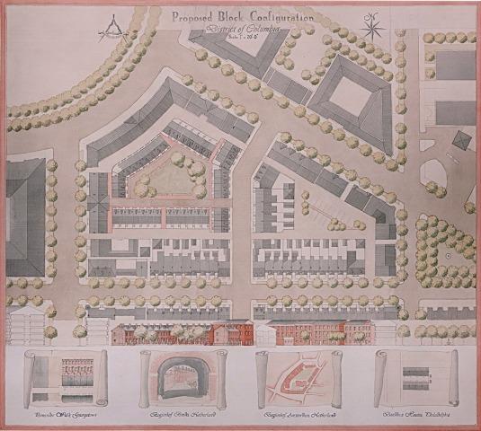 Urban plan for proposed neighborhood at Union Station, Washington, DC