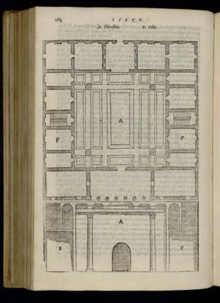 Palladio's reconstruction of the Roman House in Vitruvius' De Architectura (trans. Barbaro, 1567 edition) provided a model for his Santa Maria della Carità