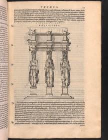 Caryatids illustrated in De Architectura, trans. Barbaro, 1567 edition