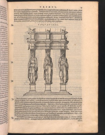 Caryatids illustrated in De Architectura, trans. Barbaro, 1567 edition
