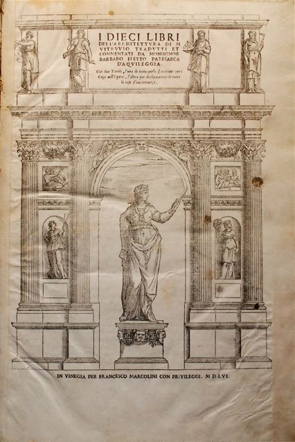 Engraving from Barbaro's edition of Vitruvius