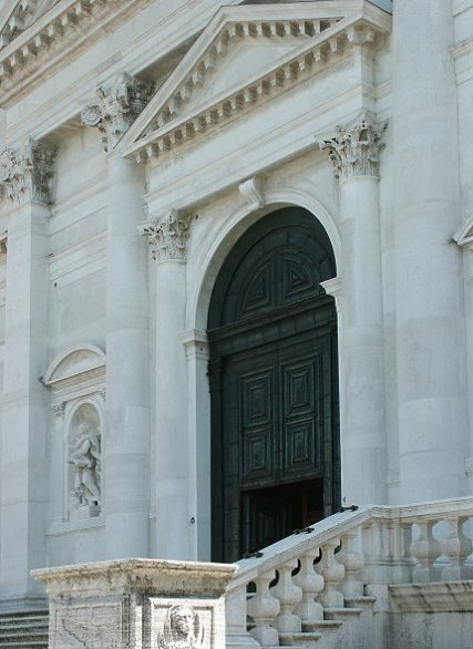 Detail of entrance at Il Redentore