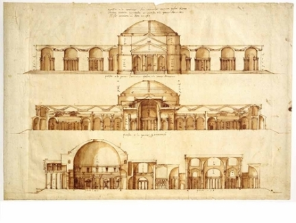 Palladio's study of the Baths of Agrippa