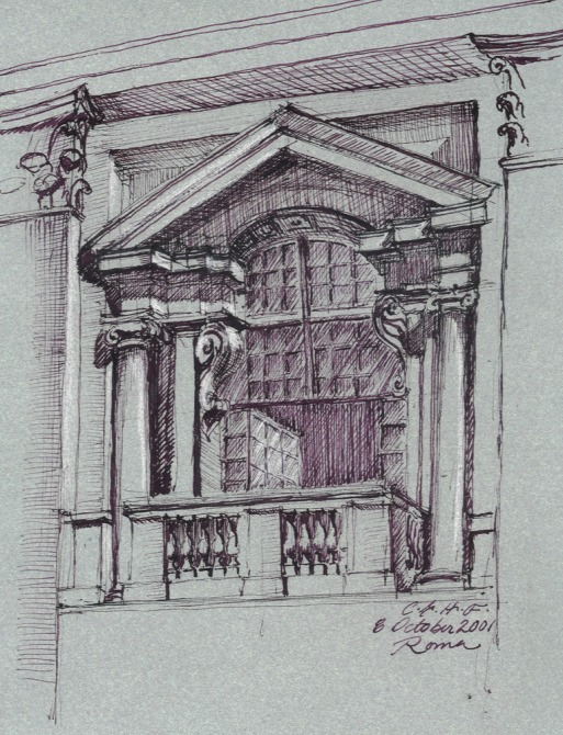 Study of a window at the Campidoglio by Christine G. H. Franck