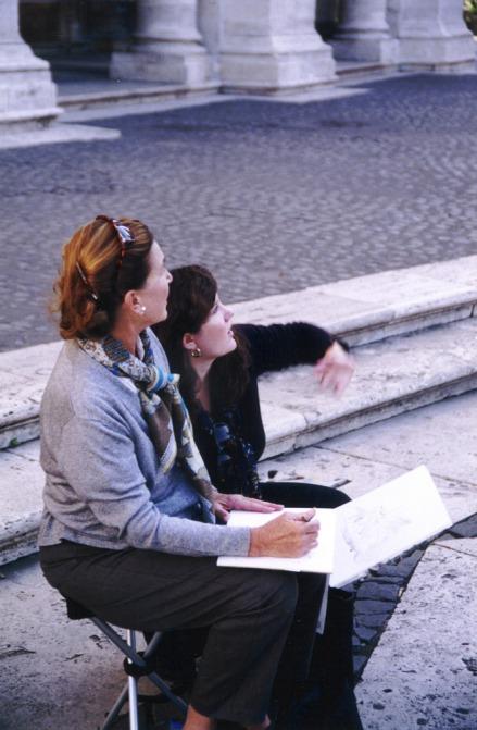 Christine G. H. Franck teaching a student in Rome