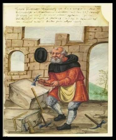 The Stonemason, Landauer's Twelve Brothers' House manuscript, (Early 16th C.)