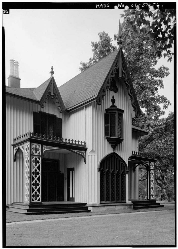 Gothic revival style christine g h franck studio for Gothic revival house