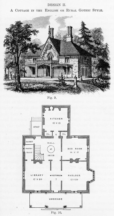 Gothic revival style christine g h franck studio for Gothic revival house plans
