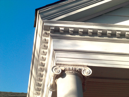 Detail at entablature AFTER renovation