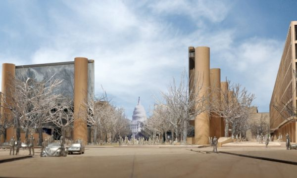 Eisenhower_memorial_towers_in_