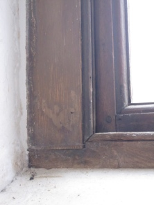 Interior of window at Christ Church Irvington