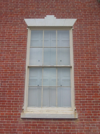 Federal window at Homewood (1801-08), Maryland