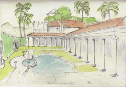 Thoughts on adding a peristyle to an existing pool.