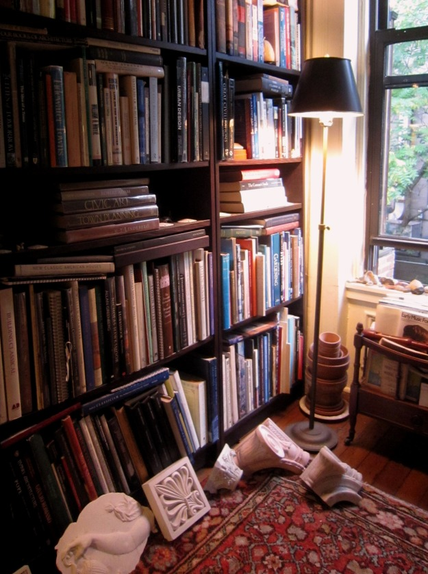A glimpse of my library in New York.