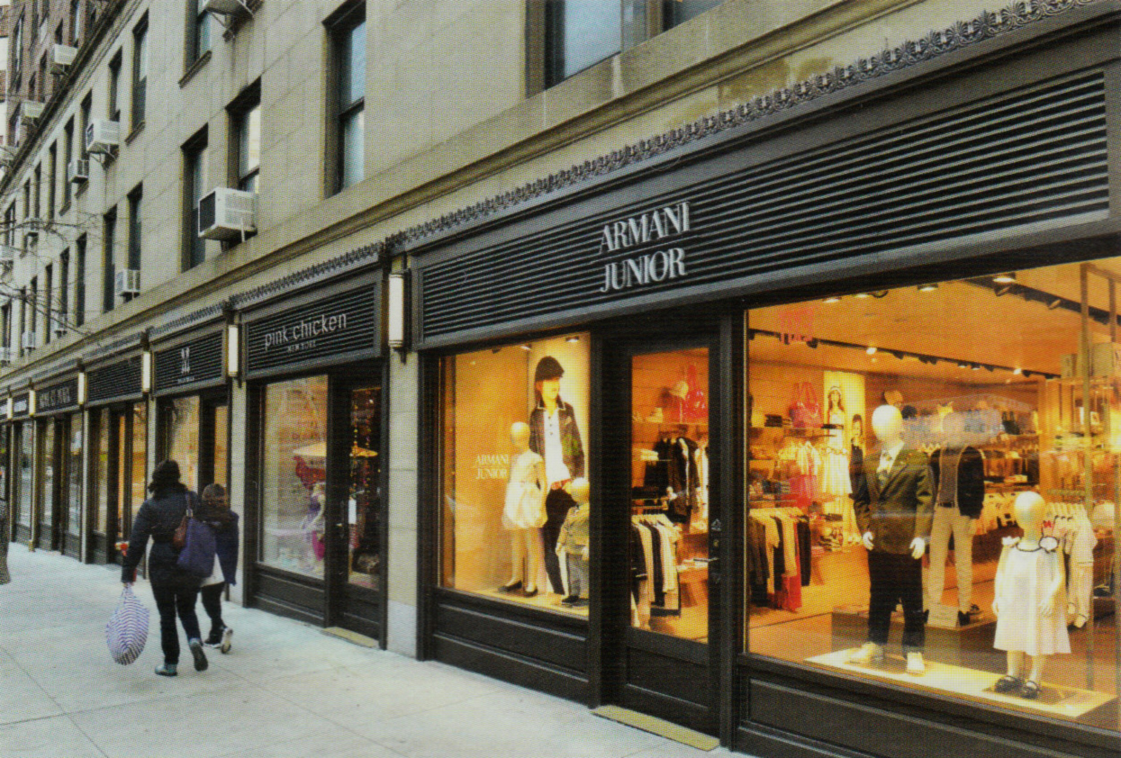 View of storefronts AFTER renovation. Image by Stan Honda from Carnegie Hill News Spring 2013, Vol. 34, No. 1.