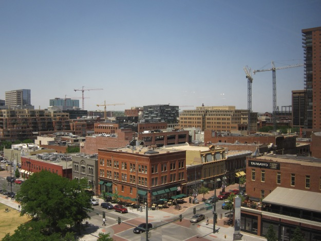 Figure 3 – A view down Larimer Street from the College's newly renovated studios.