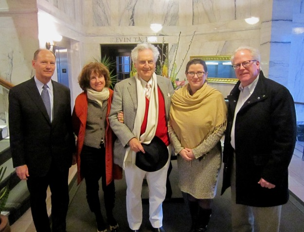 ICAA Rocky Mountain Chapter President Don Ruggles, Irene Stillman, Leon Krier, Contemporary Traditional Architecture Initiatives director Christine Franck, ICAA Rocky Mountain Chapter secretary Tom Matthews on Leon Krier's visit to Denver.