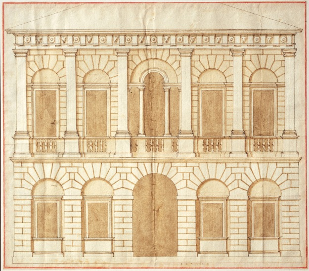 Design for a palace by Andrea Palladio (c.1540s) (c) RIBA Collections